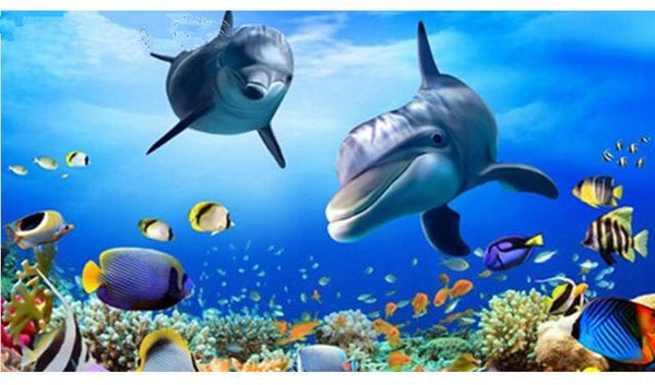 5d Diy Diamond Painting Kits 2019 New Dolphin VM8588