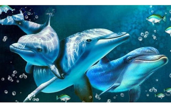 5d Embroidery Hot Sale Dolphin Diy Diamond Painting Kits VM8586