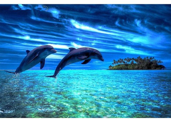 Fantasy Dream Wall Decor Animal Dolphin 5d Diy Diamond Painting Kits VM85812