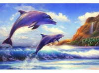 Fantasy Dream Wall Decor Animal Dolphin 5d Diy Diamond Painting Kits VM85678