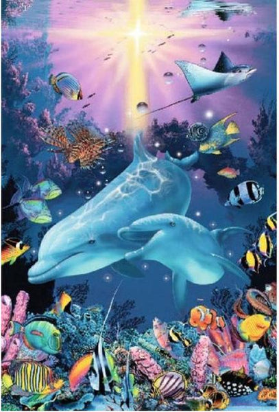 5d Diy Diamond Painting Kits Animals Dolphin VM08575
