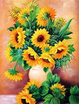 2019 5d Diy Diamond Painting Kits Oil Painting Style Sunflowers VM90134