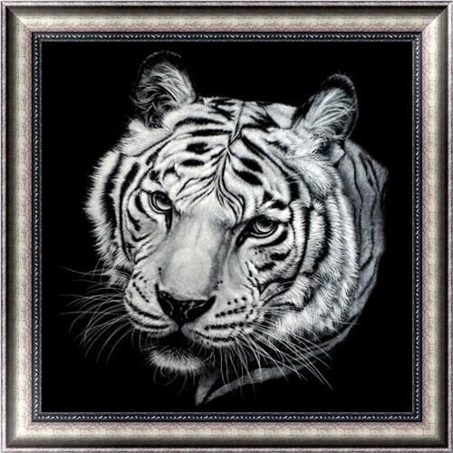 Cheap Black White Tiger Pattern 5d Diy Diamond Painting Kits VM9656