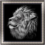 Cheap Modern Art New Arrival Black White Lion 5d Diy Diamond Painting Kits VM9657