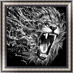 Modern Art New Arrival Black White Lion 5d Diy Diamond Painting Kits VM9654