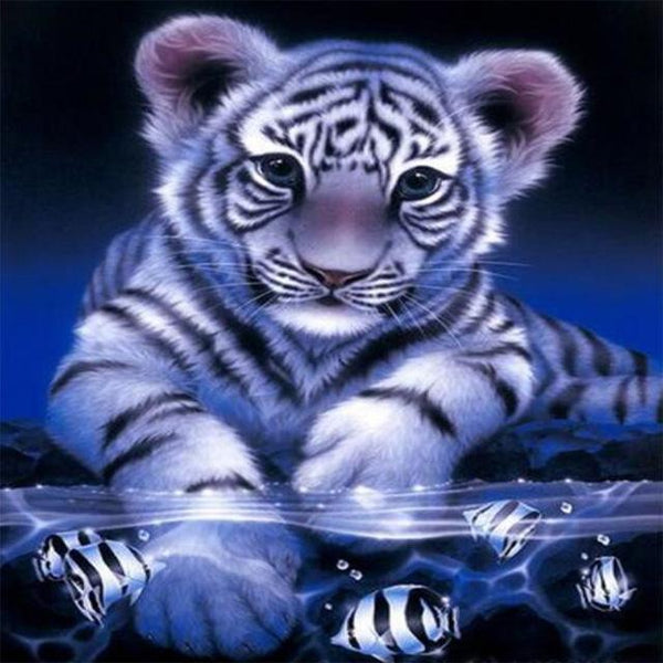 2019 5d Diy Crystal Painting Kits Diamond Cute Tiger Pattern VM7315
