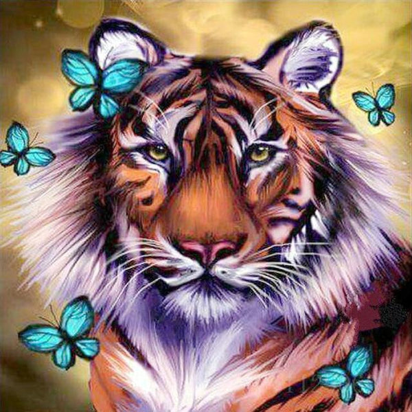 2019 5d Diy Diamond Painting Kits Dream Tiger VM7320