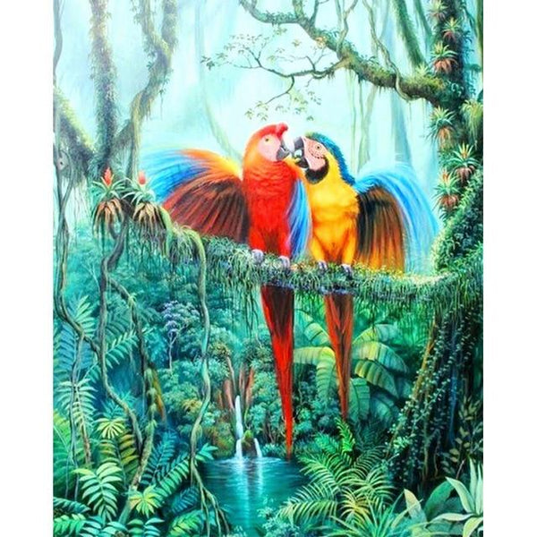 2019 5d Diy Diamond Painting Kits Blue Parrot VM09219