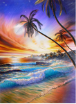 5d Diy Diamond Painting Kits Landscape Beach Tree  VM9650