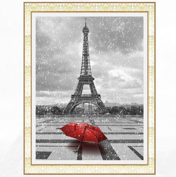 Modern Art New Arrival Landscape Eiffel Tower 5d Diy Diamond Painting Kits VM9409