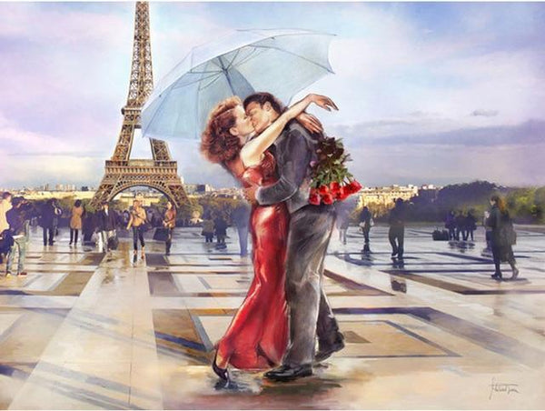 Modern Art New Arrival Eiffel Tower Lover 5d Diy Diamond Painting Kits VM9402