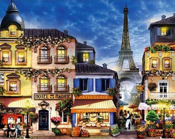 2019 5d Diy Diamond Painting Kits Landscape Eiffel Tower VM9401