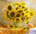 5d Diy Diamond Painting Kits Special Popular Yellow Sunflowers  VM3540