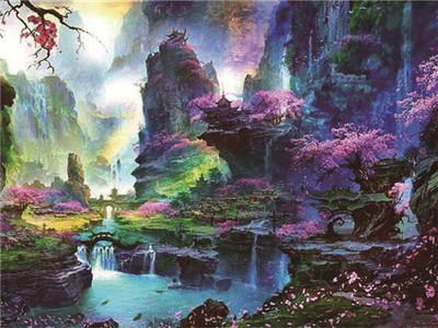 Fantasy Dream Landscape Nature Wall Decor 5d Diy Diamond Painting Kits VM7881