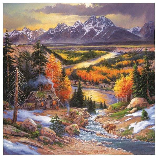 2019 5D Diy Diamond Painting Kits Mountain Village VM90216