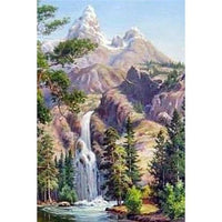 New Arrival Hot Sale Mountain Waterfall 5d Diy Diamond Painting Kits VM09462