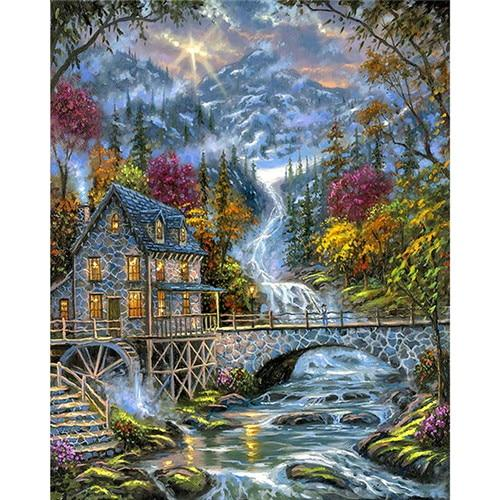 2019 5d Diy Diamond Painting Kits Landscape Moutain VM9470