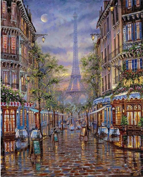 2019 5d Diy Diamond Painting Kits Landscape Street Eiffel Tower VM59466