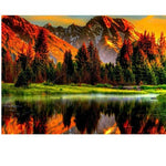 New Arrival Hot Sale Landscape Mountain Lake 5d Diy Diamond Painting Kits VM9463