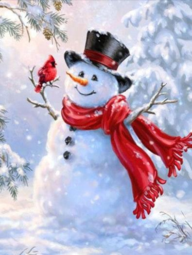 2019 5d Diy Diamond Painting Kits Special Style Snowman NA00383