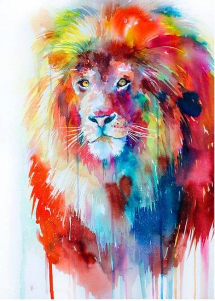 5d Watercolor New Arrival Pictures Lion Diy Diamond Painting Cross Stitch VM9047