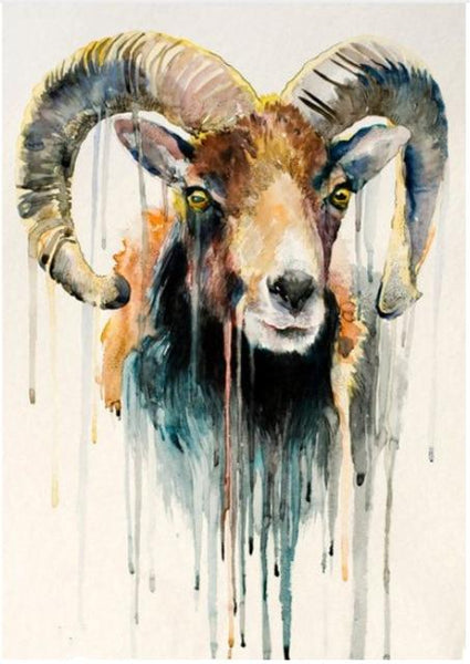5d Pictures Watercolor New Goat Diy Diamond Painting Cross Stitch VM9044