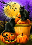 2019 5d Diy Diamond Painting Kits Pumpkin And Black Cats VM8056
