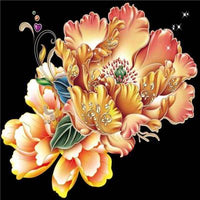 5d Diy Diamond Painting Kits Special Pink Flower Pattern  VM7341