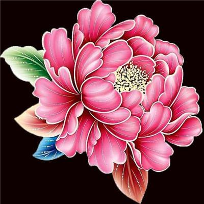 5d Diy Diamond Painting Kits Special Pink Flower VM7340