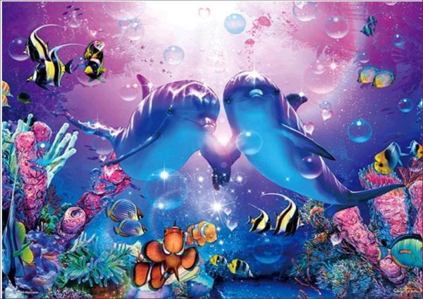 New Arrival Hot Sale Animal Dolphin Pattern 5d Diy Diamond Painting Kits VM7027