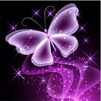 2019 5d Diy Diamond Painting Kits Dream Purple Butterfly VM7643