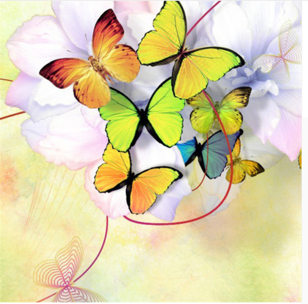 New Arrival Hot Sale Colorful Butterfly Picture Patterns Diamond Painting Kits VM7649