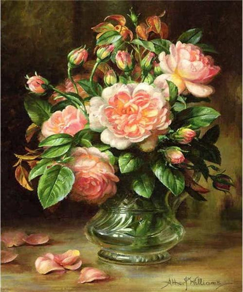 2019 5d Diamond Oil Painting Style Beautiful Pink Flower VM1993 (1766970949722)