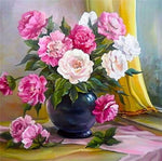 2019 5d Diamond Diy Art Oil Painting Style Beautiful Colorful Flower VM1987
