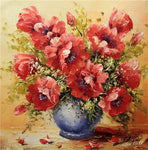 2019 5d Diy Diamond Painting  Beautiful Red Flower VM1980