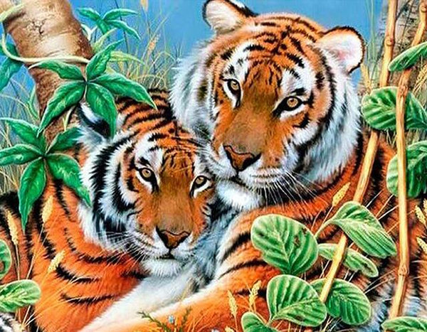 5d Diy Diamond Painting Tiger Portraits  VM2000 (1766972555354)