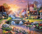 2019 5d Diy Diamond Painting Kits Dream Village Home By The River VM9663