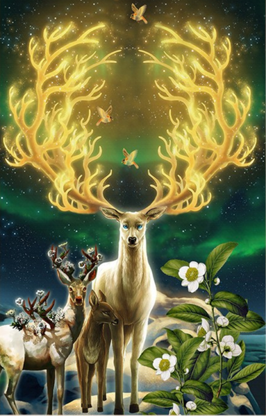 5d Art Diy Diamond Painting Set Dream Deer VM7761