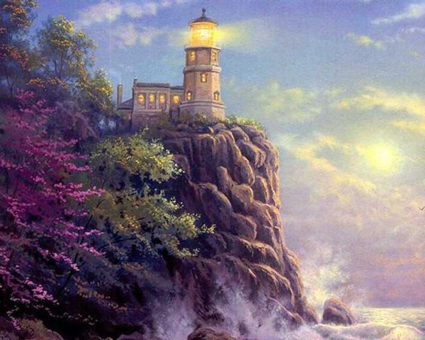 2019 5d Diy Diamond Painting Kits Lighthouse Landscape VM09054