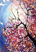 Hot Sale Dream Cartoon Pink Tree 5d Diy Diamond Painting Kits VM9422