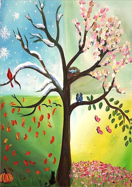 2019 5d Diy Diamond Painting Kits Dream Colorful Tree VM9420