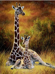 New Arrival Hot Sale Animal Giraffe Home Decor 5d Diy Diamond Painting Kits VM9668