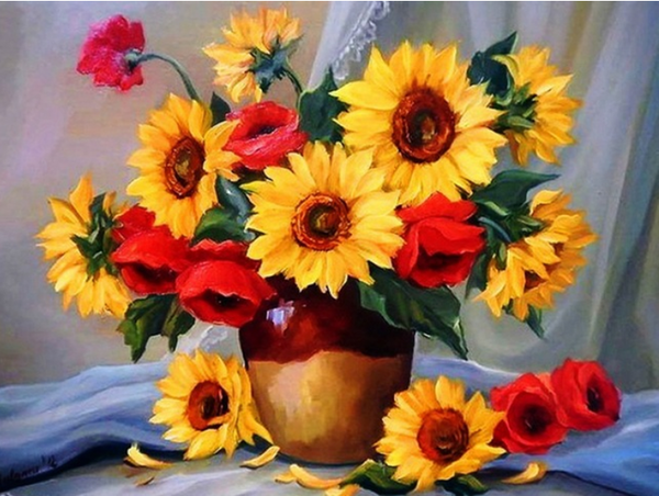 2019 5d Diy Diamond Painting Kits Oil Painting Style Sunflower VM9669