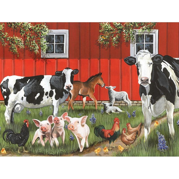 2019 5D DIY Diamond painting Kits Farm Cow Pig Chicken VM90090