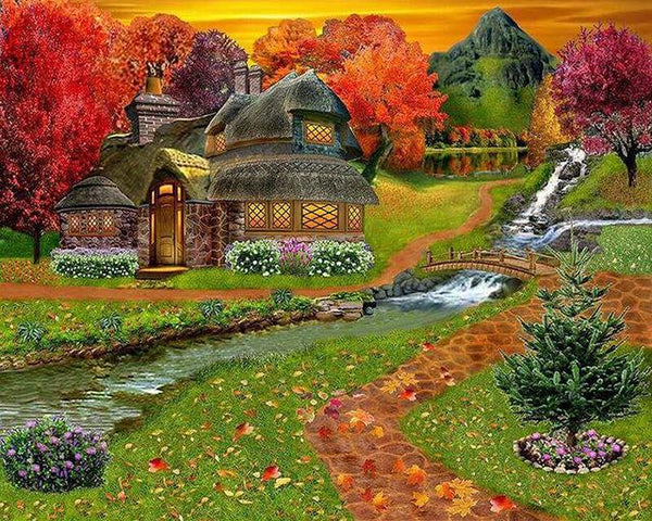 2019 5d Diy Diamond Painting Kits Village Cottage VM3401 (1766990381146)