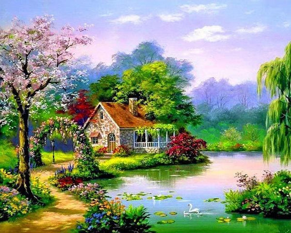 2019 5d Diy Diamond Painting Cottage Kits Colorful VM3579 (1767000473690)