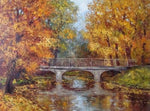 2019 5d Diy Diamond Painting Kits Oil Painting Style Autumn Forest Bridge VM9221