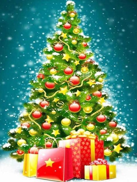 5d Diy Embroidery Diamond Painting Kits Christmas Tree NA0408