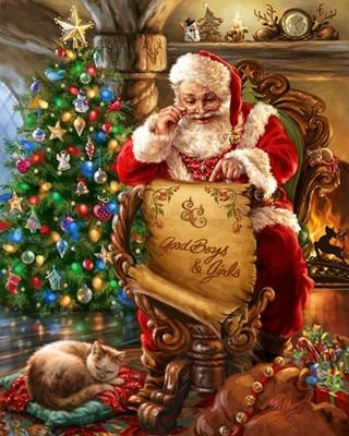 Hot Sale Special Full Drill Santa Claus 5d Diy Diamond Painting Kits NA0368