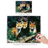 2019 5d DIY Diamond Painting Kits Mosaic Decor Animal Fox VM8293